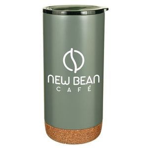 16 Oz. Estate Double Walled Stainless Tumbler with Cork Bottom