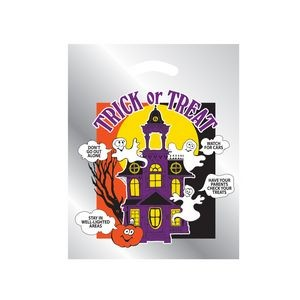 Halloween Stock Design Silver Reflective Die Cut Bag � Haunted House