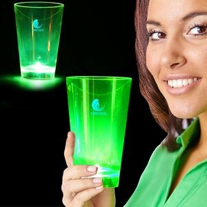 12 Oz. Neon Green Plastic LED Tumblers