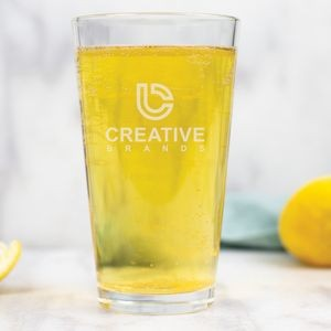 16 Oz. Pint Glass w/Laser Engraved Logo