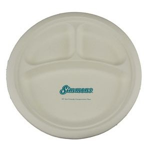 "10"" Eco-Friendly Compartment Plates - The 500 Line"