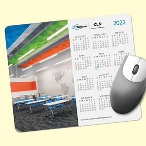 "Vynex® DuraTec® 8""x9.5""x1/16"" Hard Surface Calendar Mouse Pad"