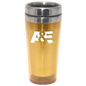 16 Oz. Travel Tumbler Mug w/ Stainless Liner & Lid