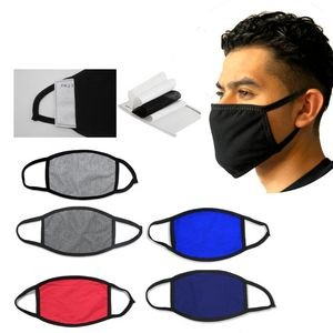 Cotton Facemask with Pocket to insert filter